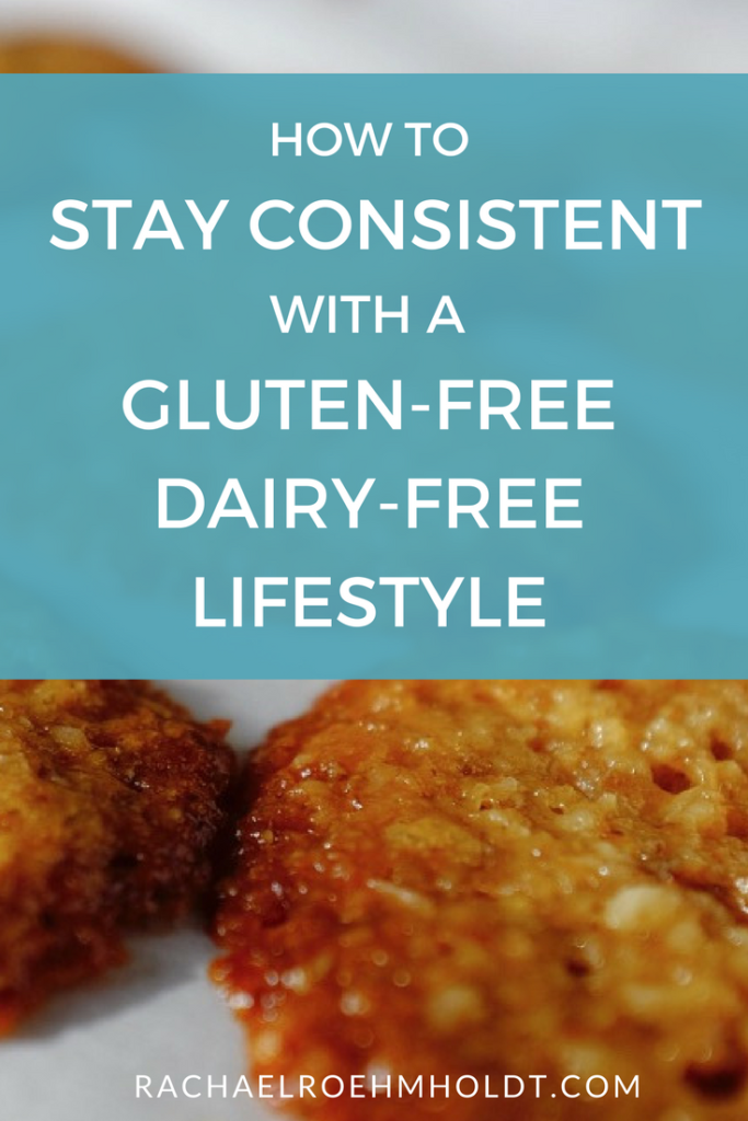 Are you trying to take on a gluten-free dairy-free diet and lifestyle this year? It's tough to stay consistent and motivated - Click through to learn my top 5 tips for keeping on track with keeping the gluten and dairy out of your life!