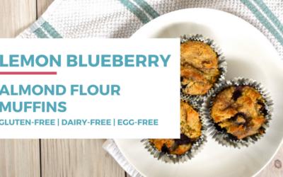 Lemon Blueberry Almond Flour Muffins