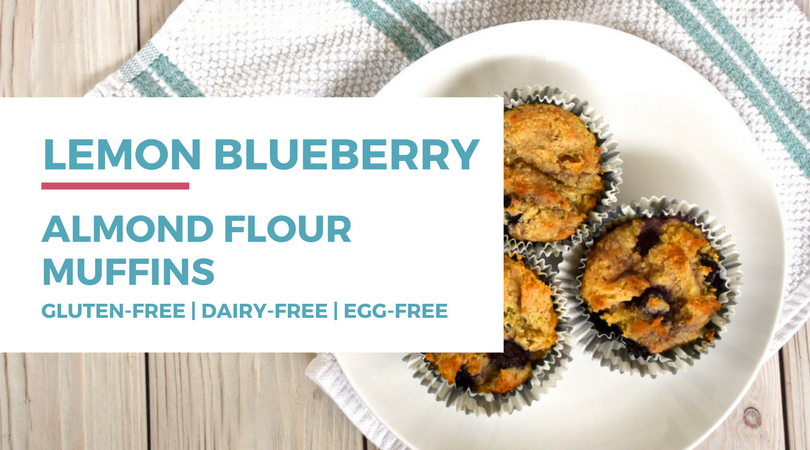 Lemon Blueberry Almond Flour Muffins