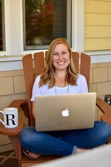 Rachael Roehmholdt Sitting in Chair Smiling