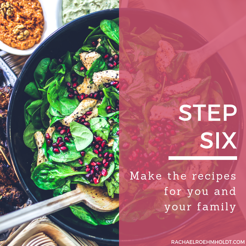 Step 6. Make the recipes for you and your family
