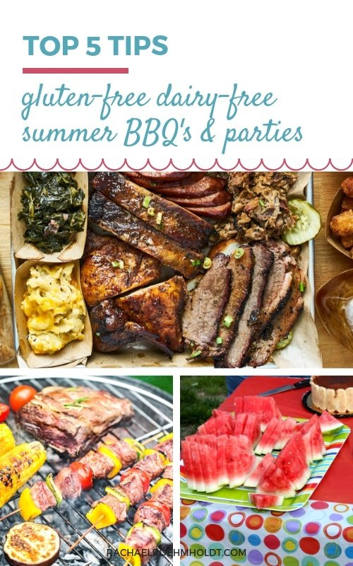Top 5 Tips for Gluten-free Dairy-free Summer BBQ's and Parties